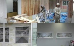 内壁の塗装、ほぼ完成です